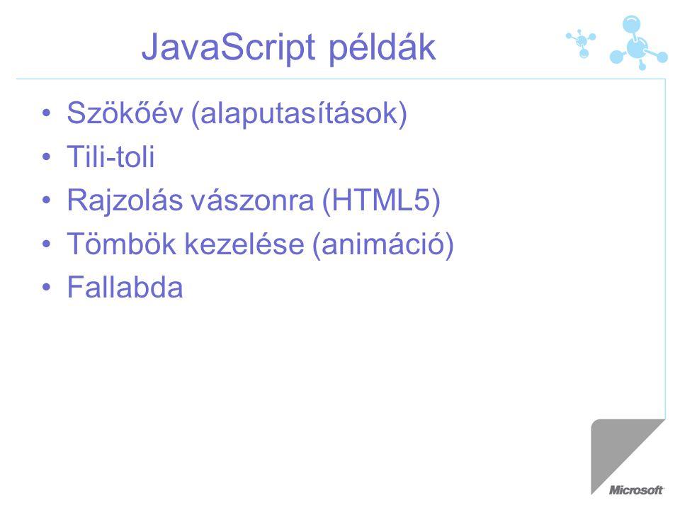 JavaScript példák Szökőév (alaputasítások) Tili-toli