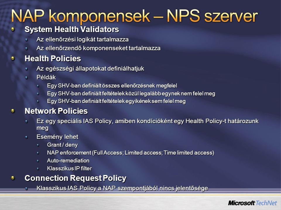 NAP komponensek – NPS szerver