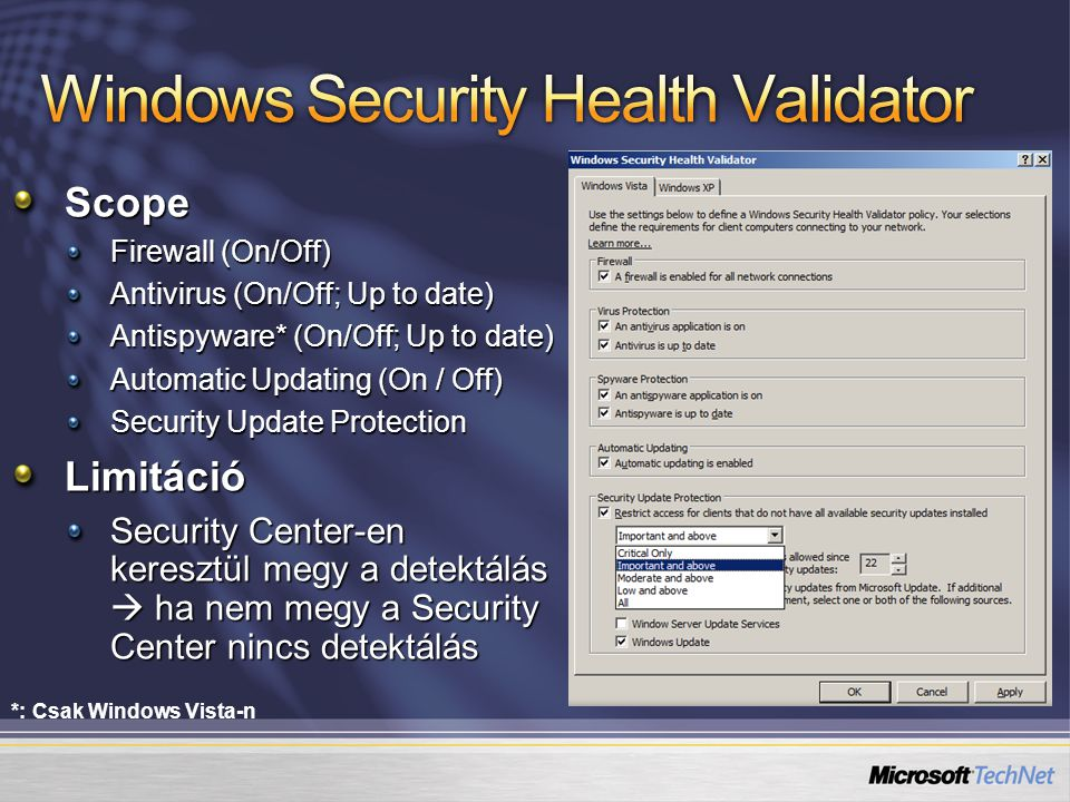 Windows Security Health Validator