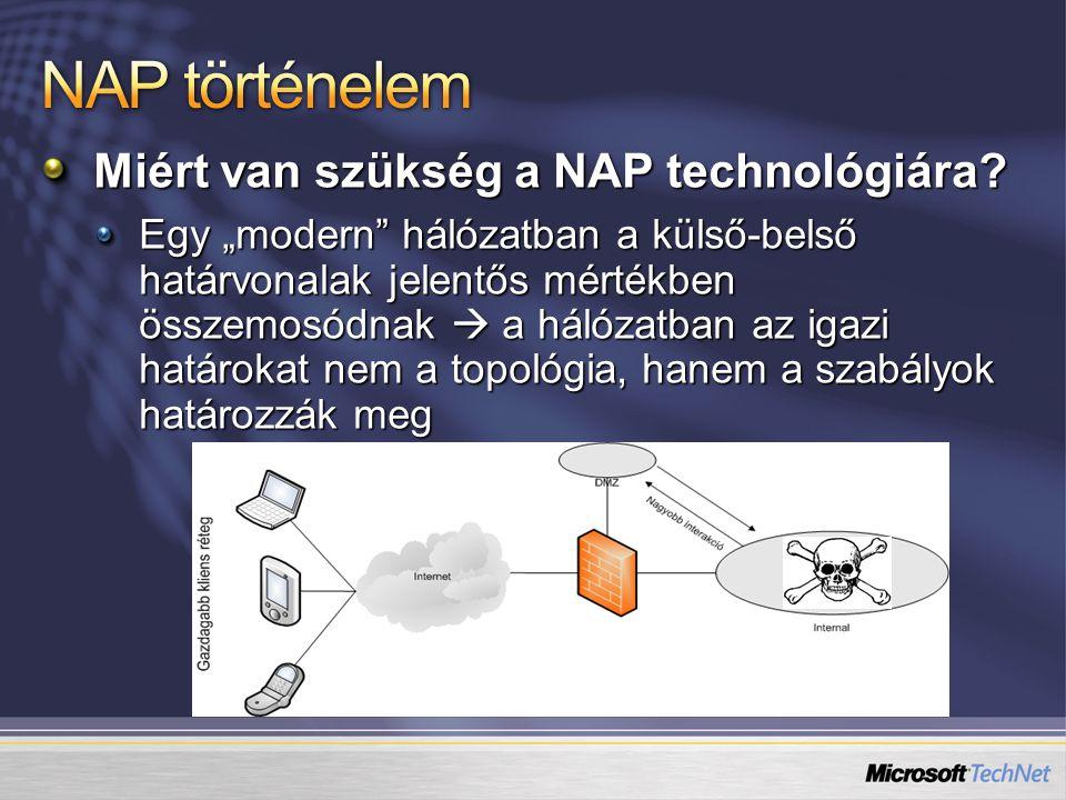 NAP történelem Miért van szükség a NAP technológiára