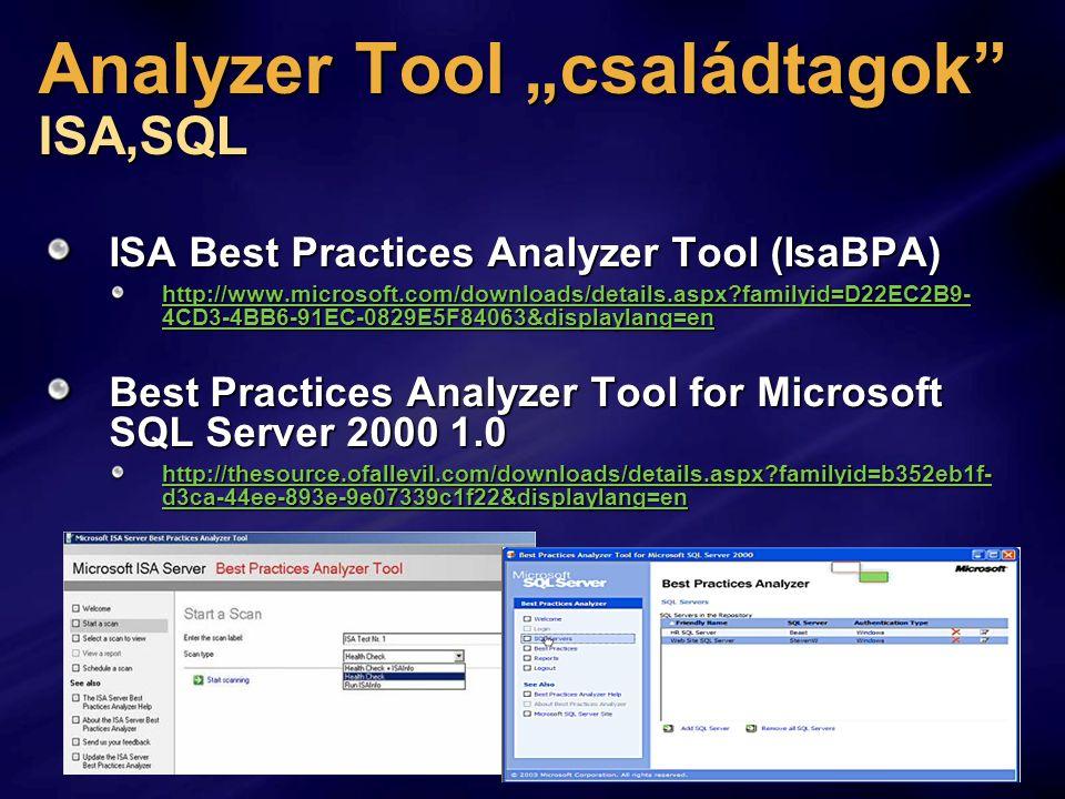 "Analyzer Tool ""családtagok ISA,SQL"
