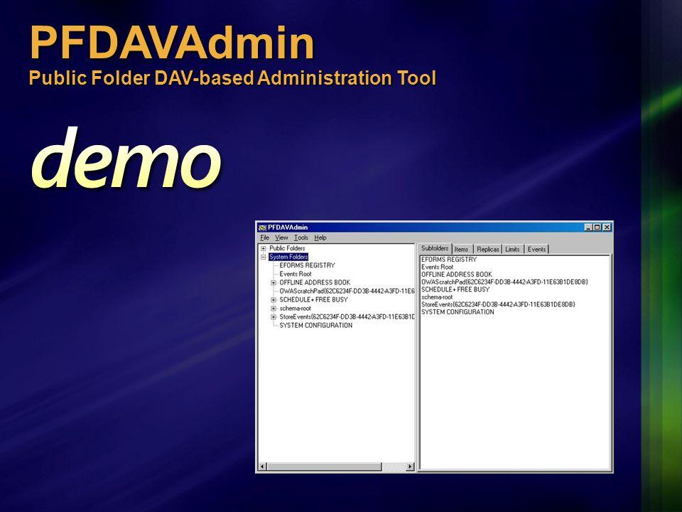 PFDAVAdmin Public Folder DAV-based Administration Tool .NET framework.