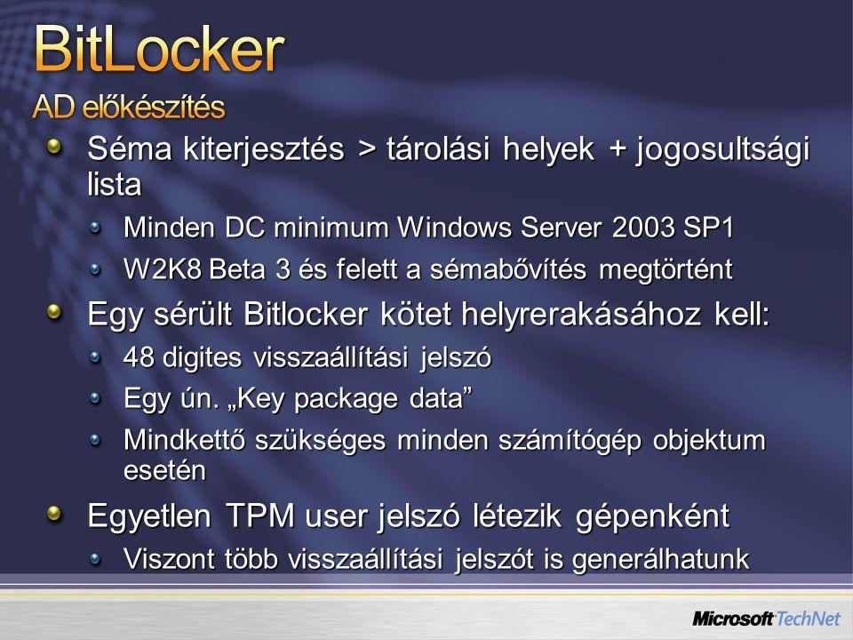 BitLocker AD előkészítés