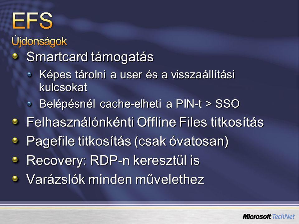 EFS Újdonságok Smartcard támogatás