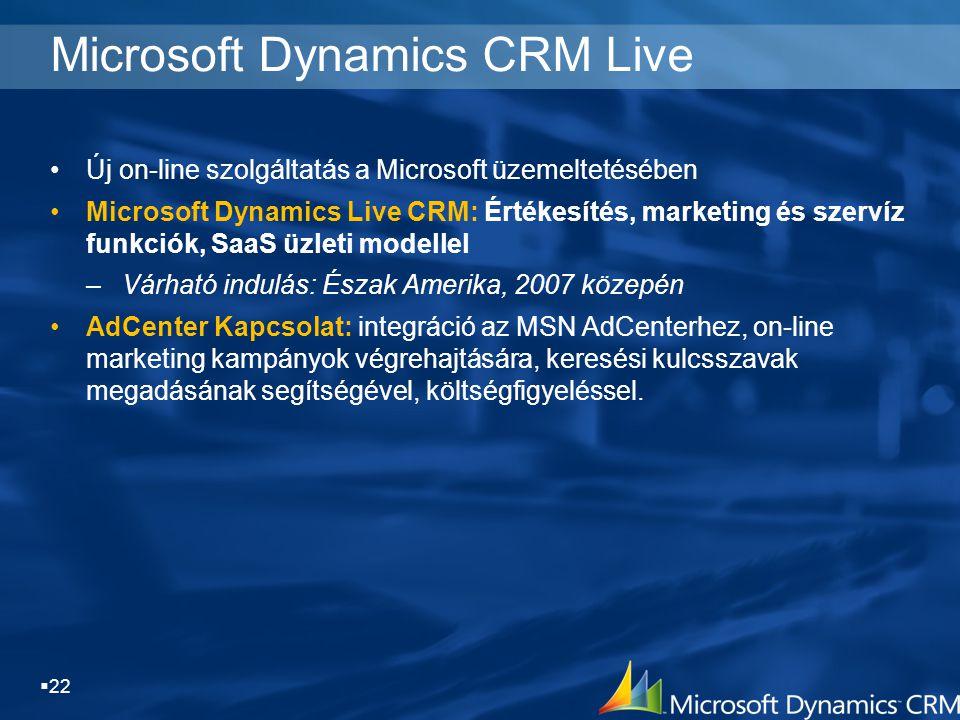 Microsoft Dynamics CRM Live
