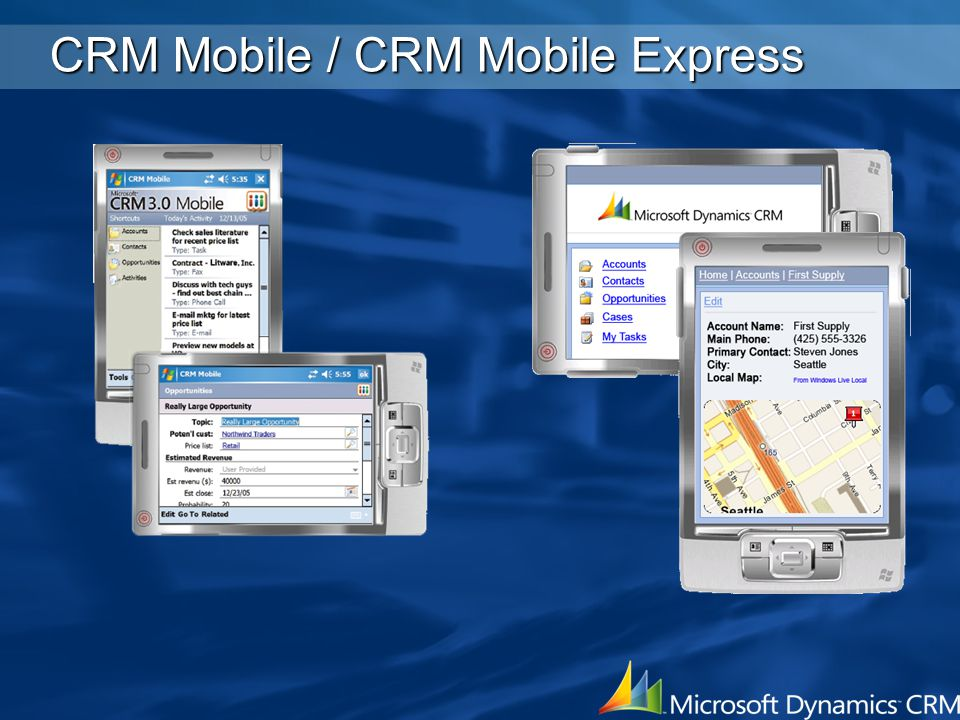CRM Mobile / CRM Mobile Express