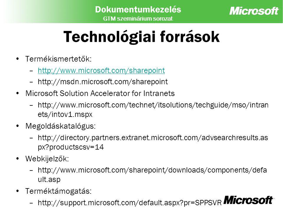 Technológiai források