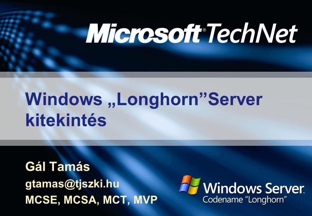 "Windows ""Longhorn Server kitekintés"