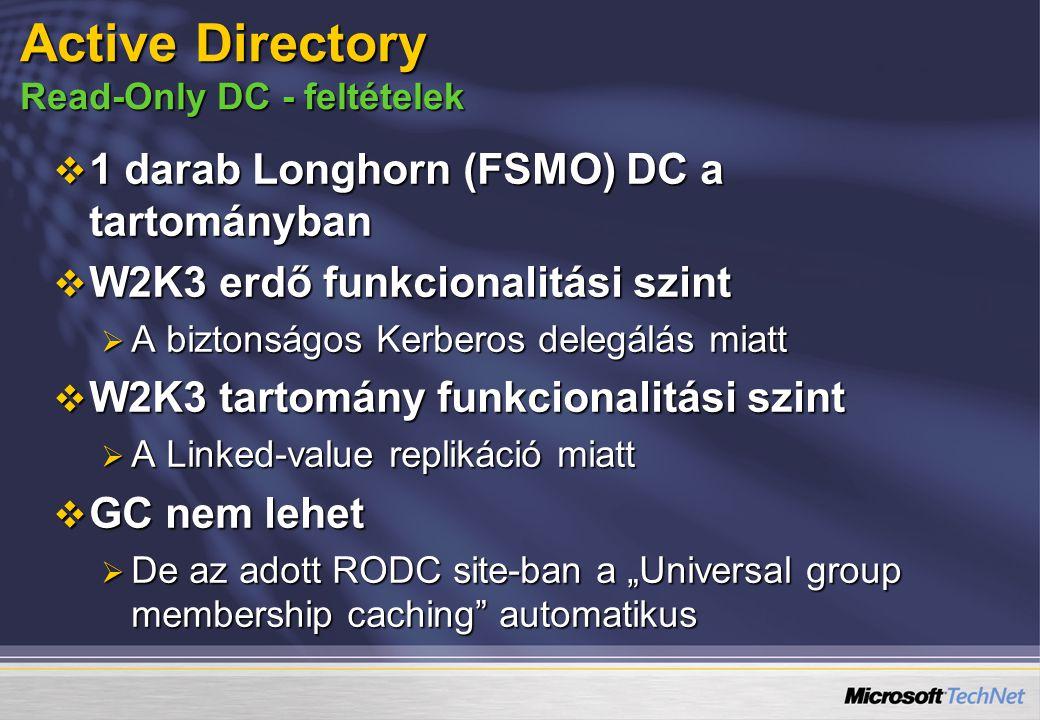 Active Directory Read-Only DC - feltételek