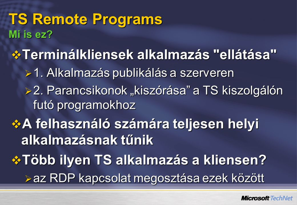 TS Remote Programs Mi is ez