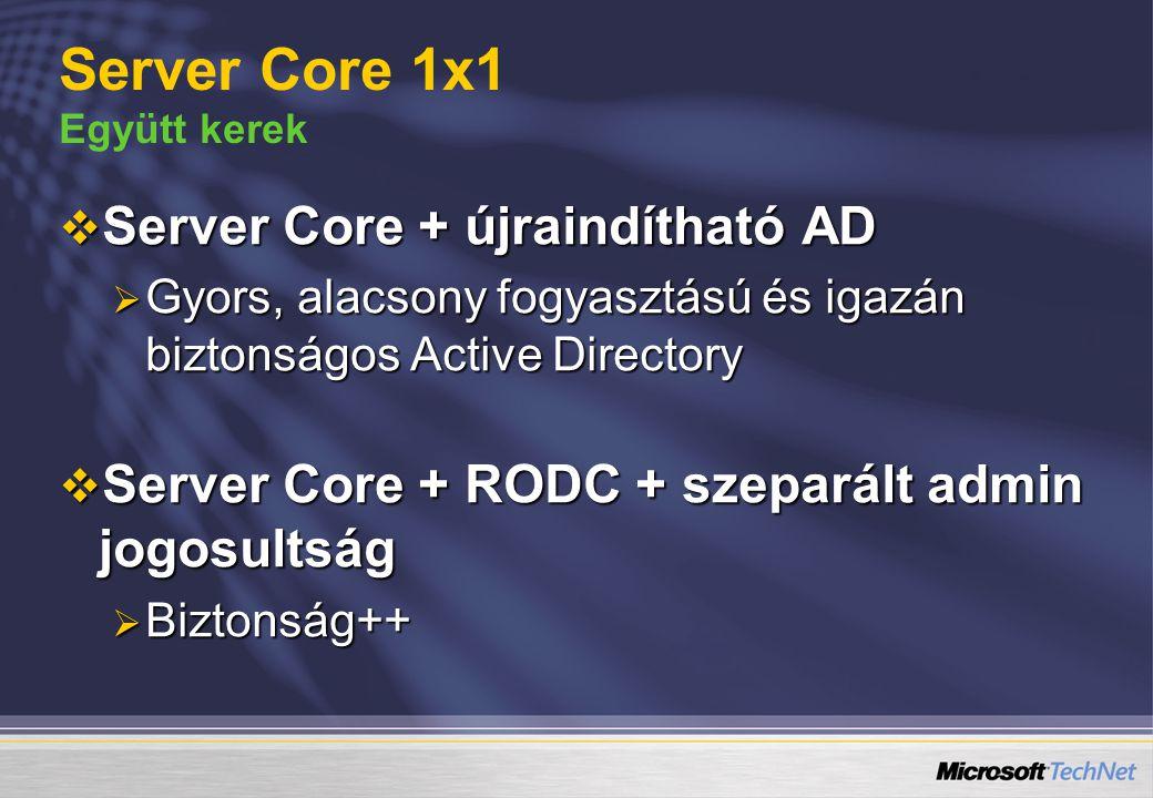 Server Core 1x1 Együtt kerek