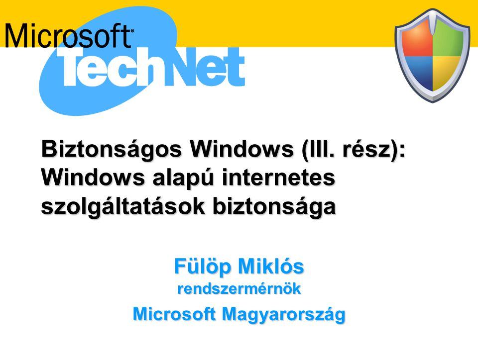 Fülöp Miklós rendszermérnök Microsoft Magyarország