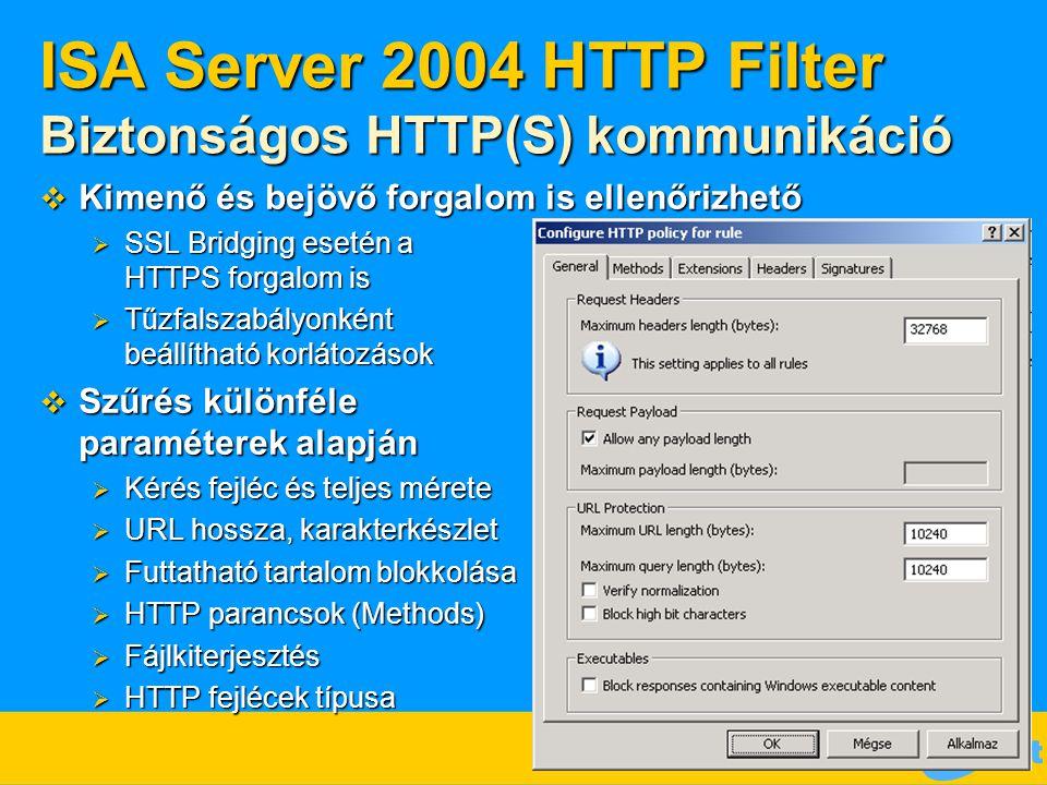 ISA Server 2004 HTTP Filter Biztonságos HTTP(S) kommunikáció