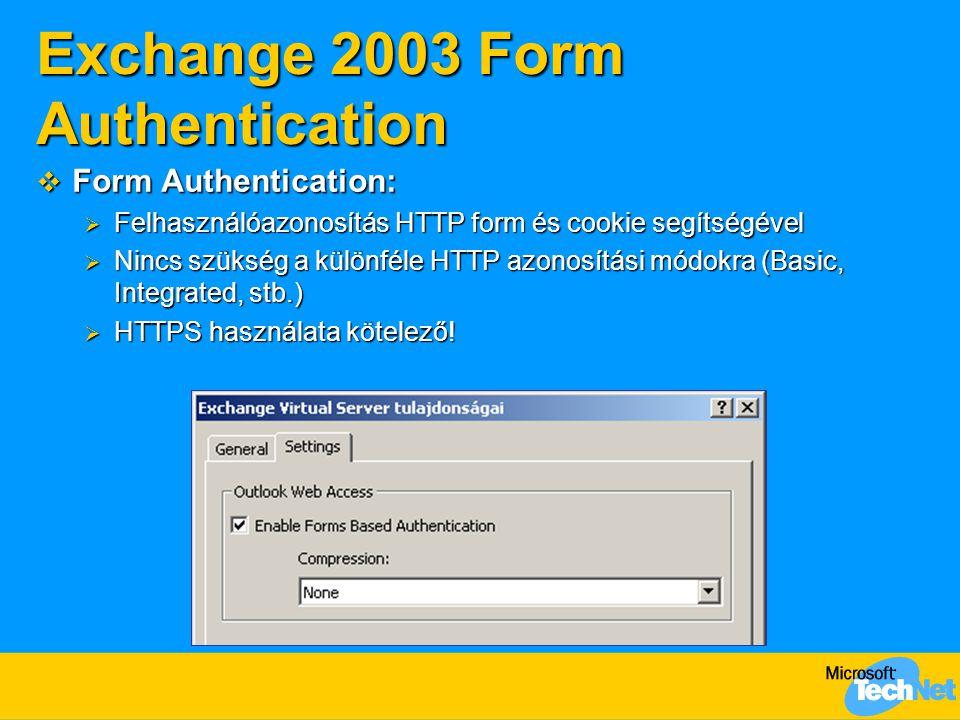Exchange 2003 Form Authentication