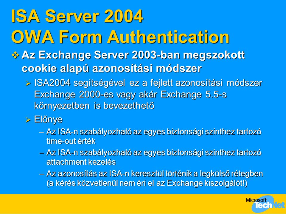 ISA Server 2004 OWA Form Authentication