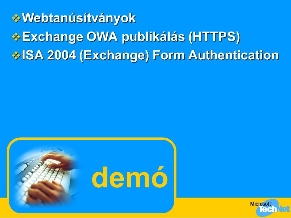 demó Webtanúsítványok Exchange OWA publikálás (HTTPS)