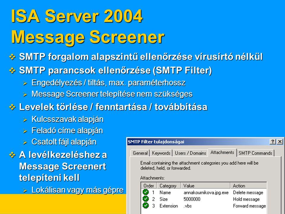 ISA Server 2004 Message Screener