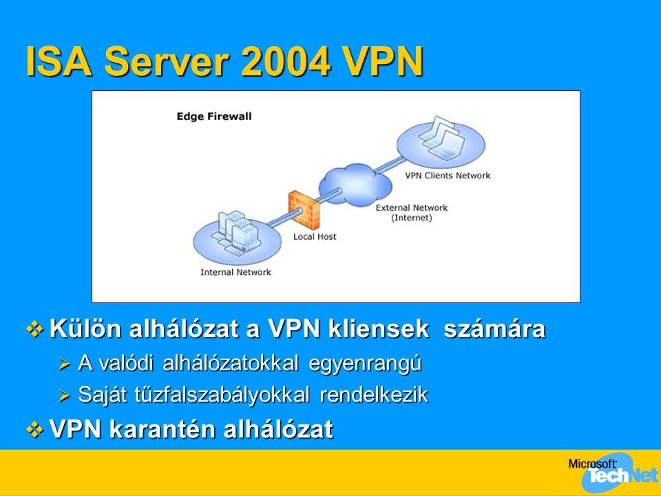 ISA Server 2004 VPN Külön alhálózat a VPN kliensek számára
