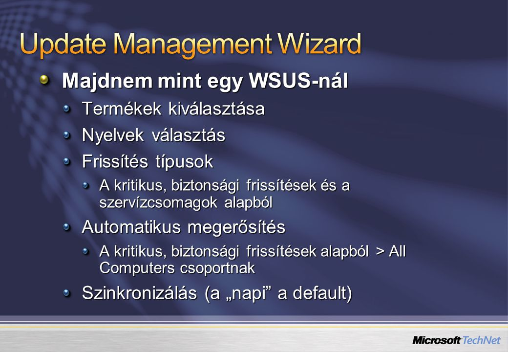 Update Management Wizard