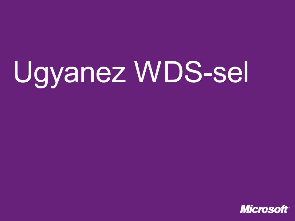 Ugyanez WDS-sel