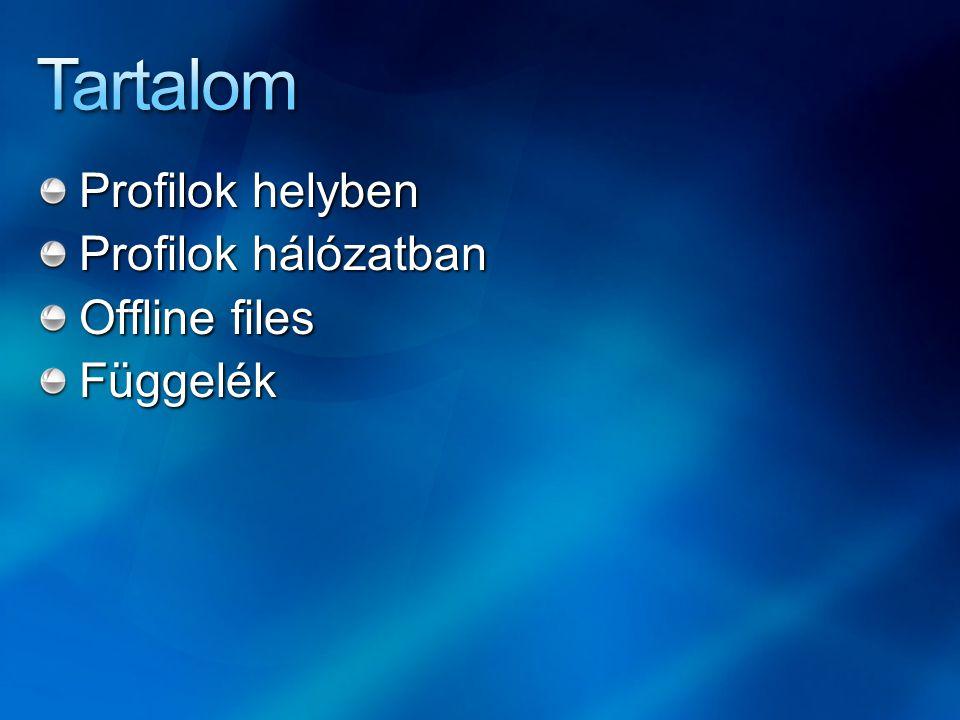 Tartalom Profilok helyben Profilok hálózatban Offline files Függelék