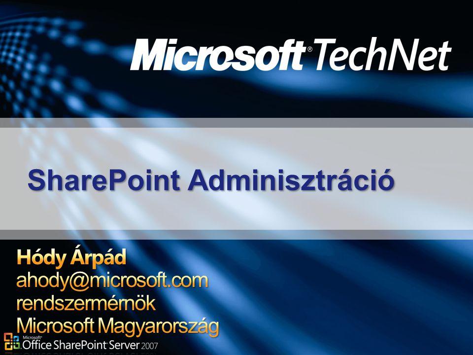 SharePoint Adminisztráció