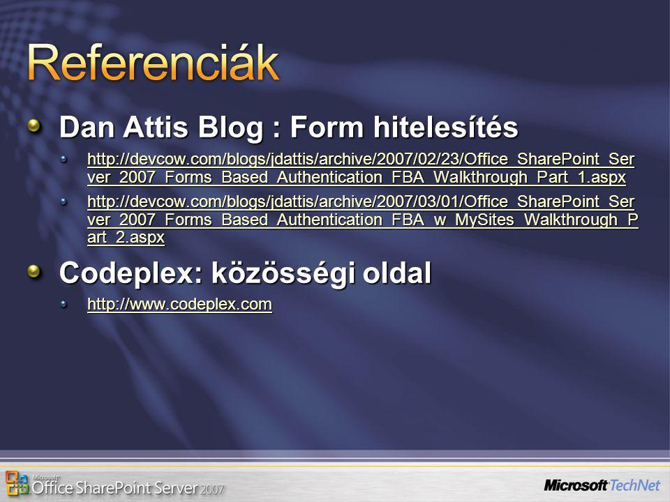 Referenciák Dan Attis Blog : Form hitelesítés