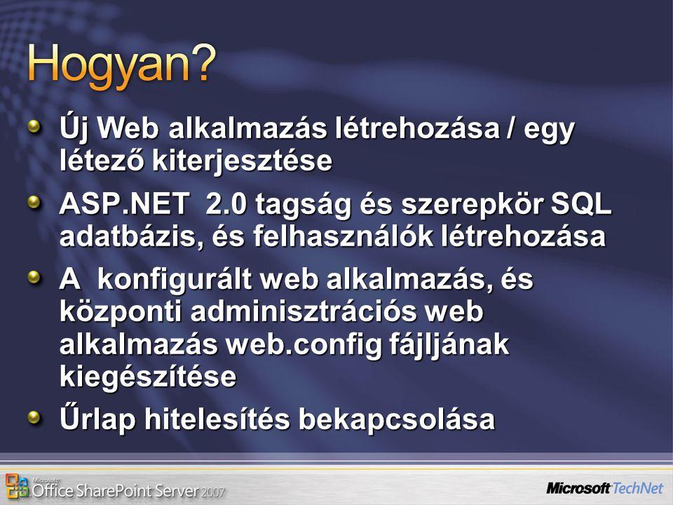 Hogyan Új Web alkalmazás létrehozása / egy létező kiterjesztése