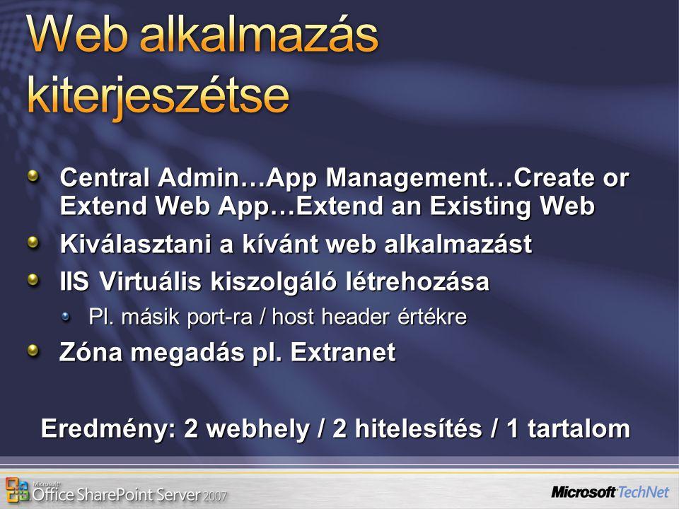 Web alkalmazás kiterjeszétse