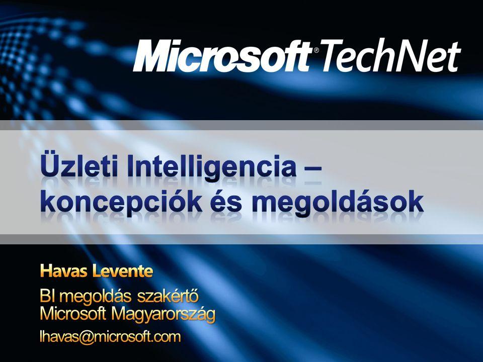 Üzleti Intelligencia – koncepciók és megoldások