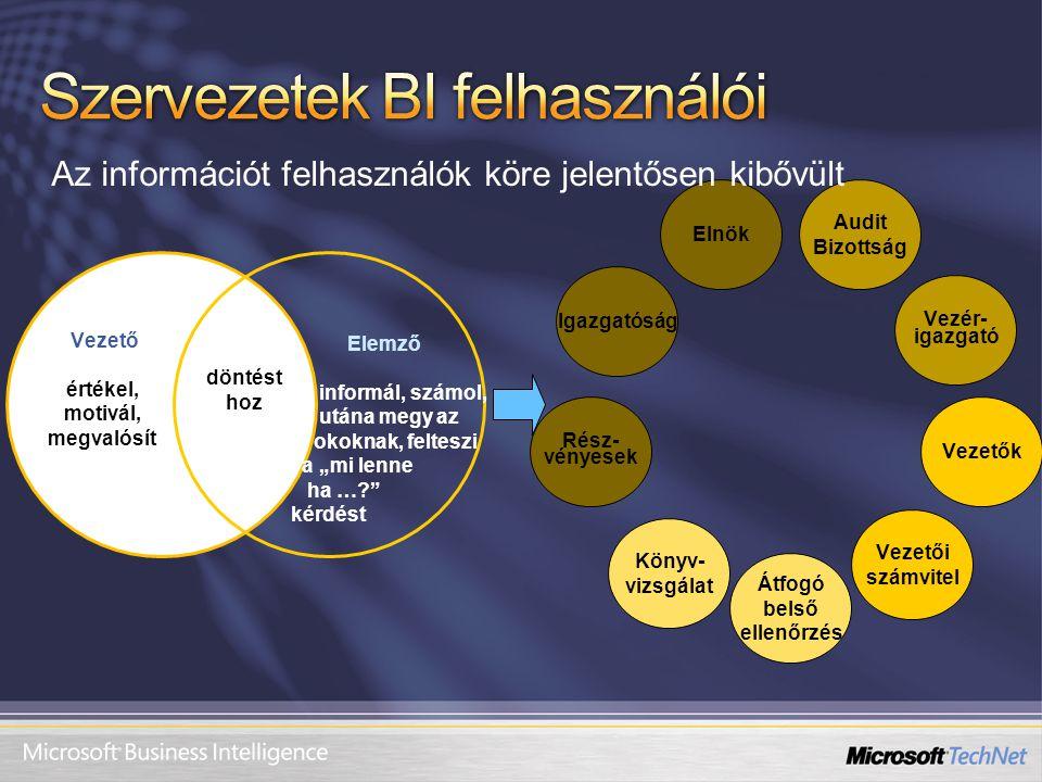Szervezetek BI felhasználói