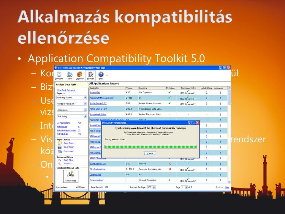 Alkalmazás kompatibilitás ellenőrzése