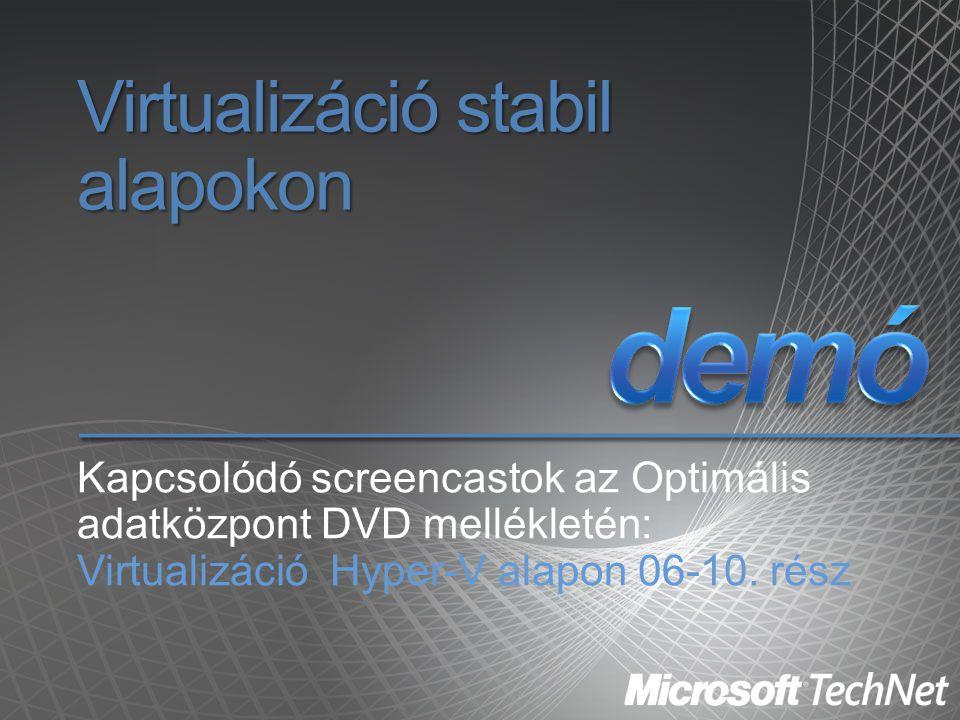 Virtualizáció stabil alapokon