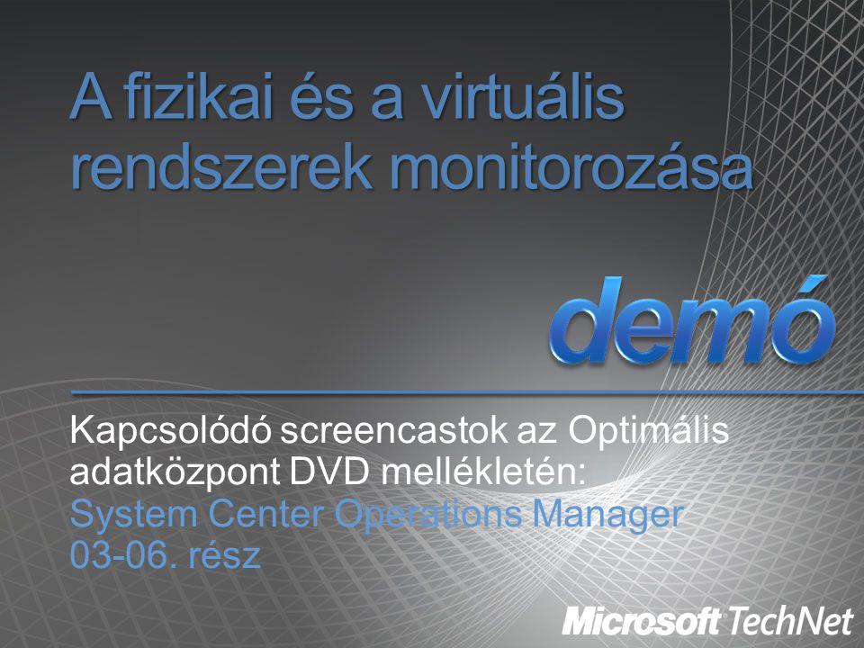 A fizikai és a virtuális rendszerek monitorozása