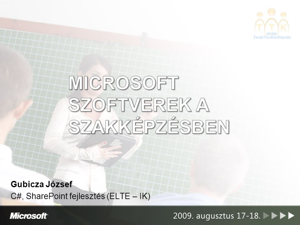 Microsoft szoftverek a szakképzésben