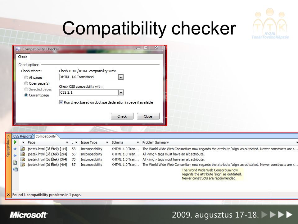 Compatibility checker