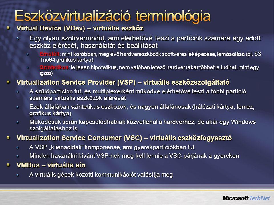 Eszközvirtualizáció terminológia