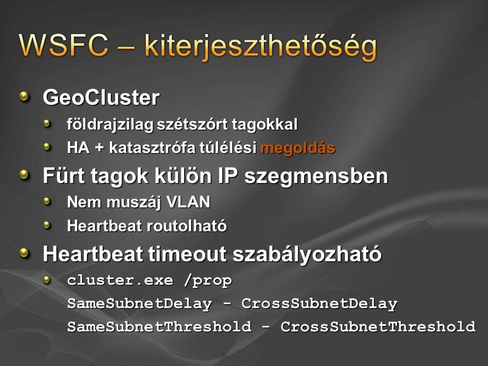 WSFC – kiterjeszthetőség