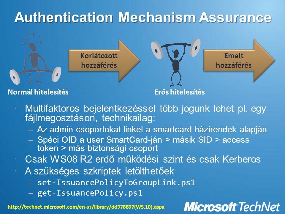 Authentication Mechanism Assurance