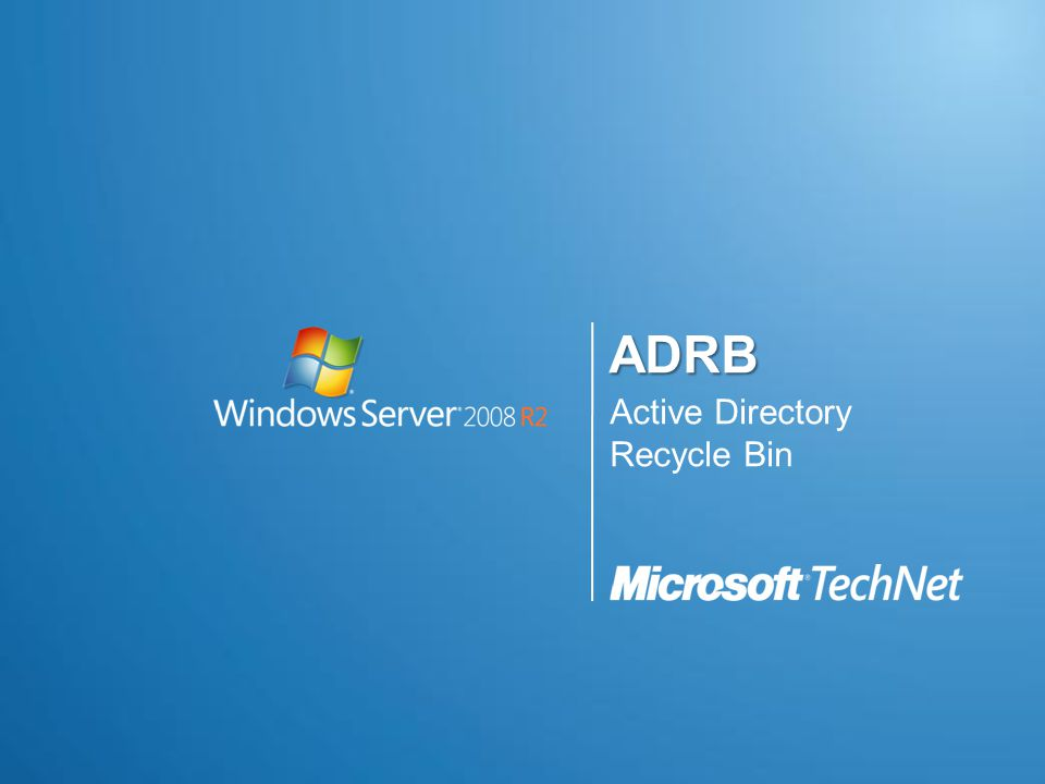 ADRB Active Directory Recycle Bin