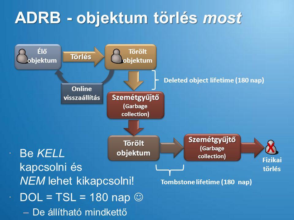ADRB - objektum törlés most