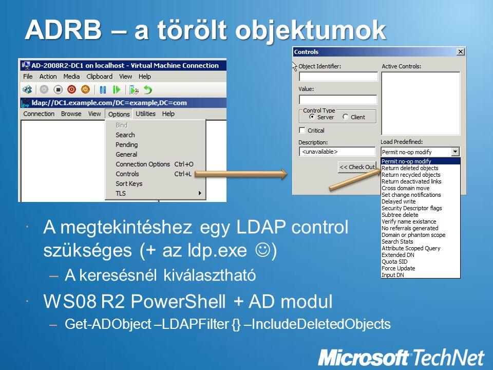 ADRB – a törölt objektumok