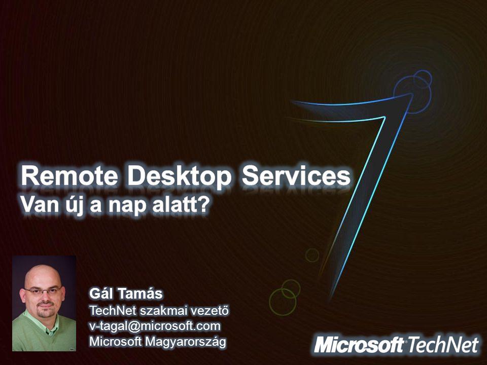 Remote Desktop Services Van új a nap alatt