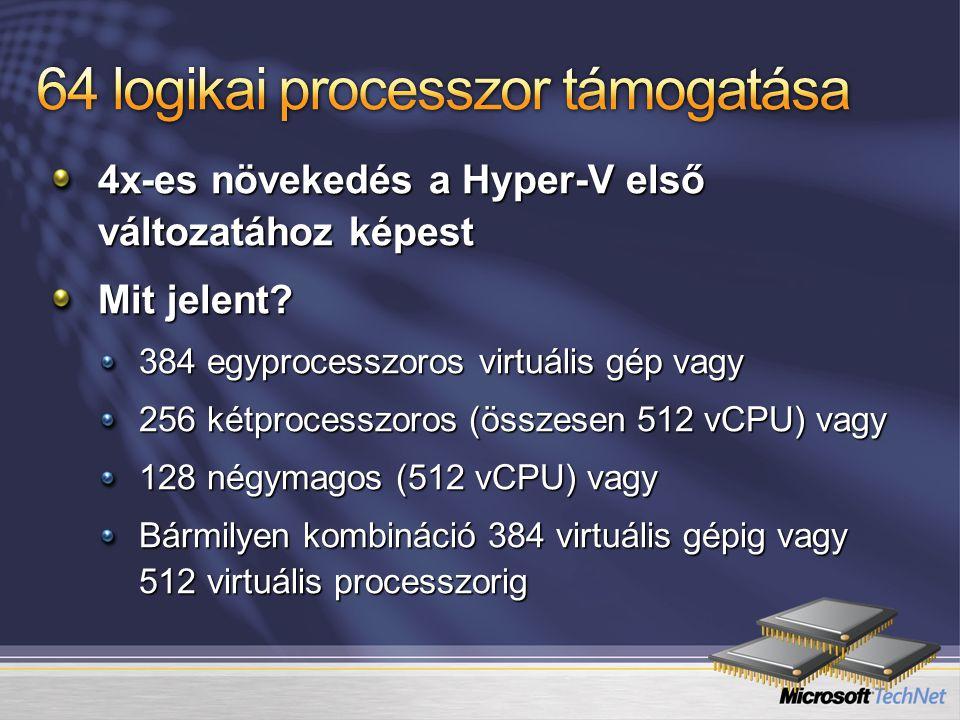 64 logikai processzor támogatása
