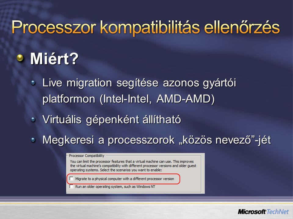 Processzor kompatibilitás ellenőrzés