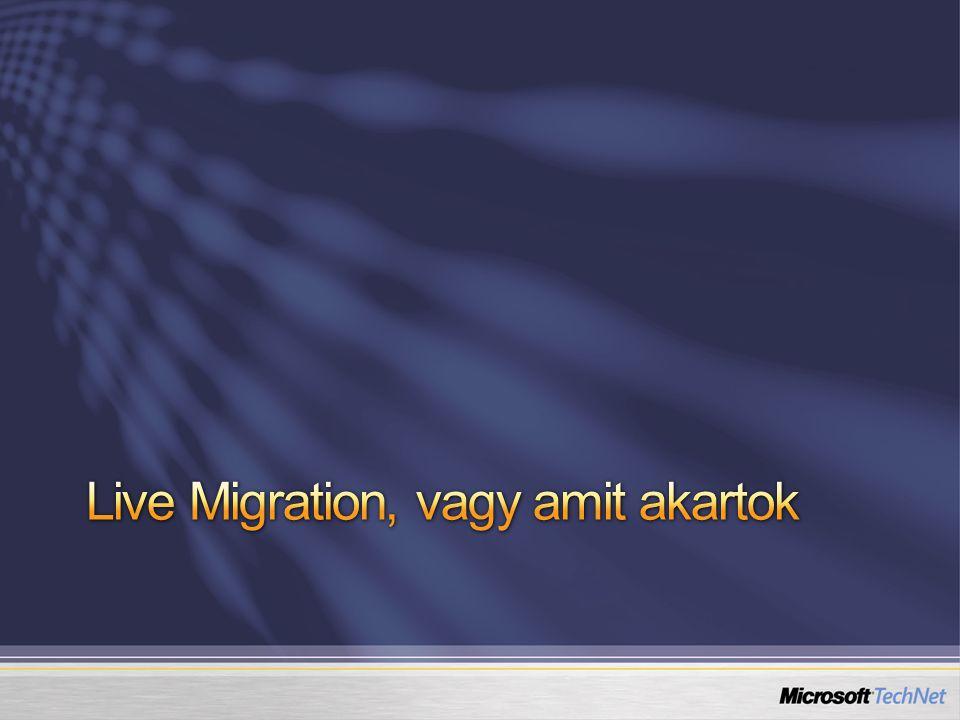 Live Migration, vagy amit akartok