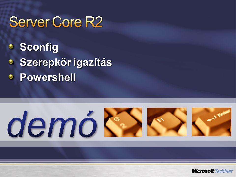 Server Core R2 Sconfig Szerepkör igazítás Powershell