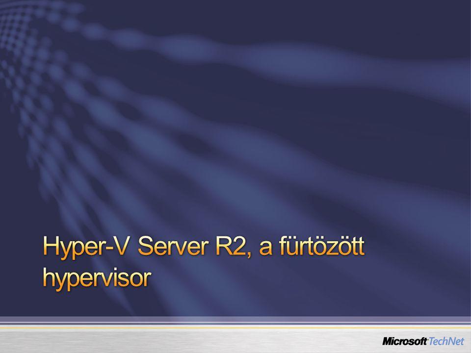 Hyper-V Server R2, a fürtözött hypervisor