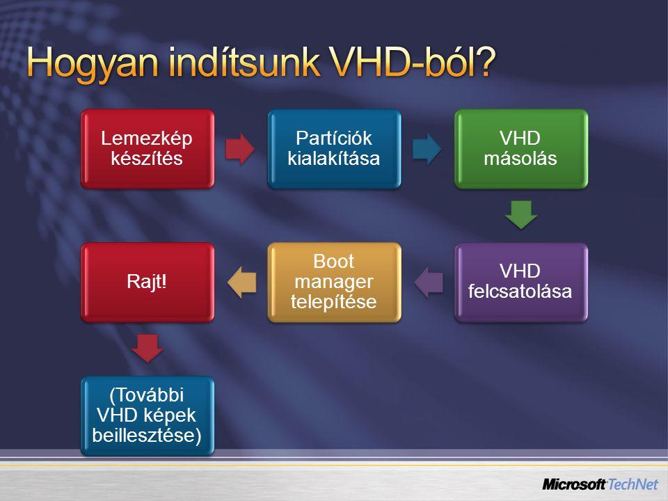 Hogyan indítsunk VHD-ból