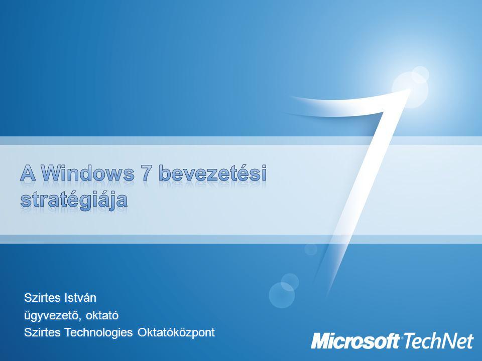 A Windows 7 bevezetési stratégiája